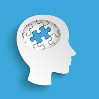 Big Head Blue Puzzle PiAd