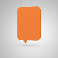 Big Banner - vertical orange