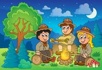 Children scouts theme image 2 - picture illustration.