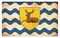 Grunge flag of Hertfordshire (Great Britain)