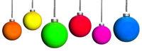 viele bunte Weihnachtsbaumkugeln