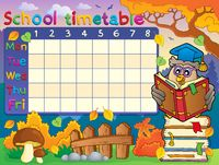School timetable composition 2 - picture illustration.