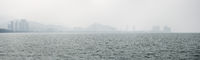 Panorama of Penang Coastline and Skyline from Across the Strait