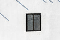 Window on white wall