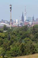 Hamburg von Georgswerder gesehen