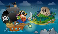 Pirate ship theme image 4 - picture illustration.