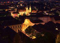 Graz Kirche Mariahilf Nacht - Graz Church Mariahilf night 01