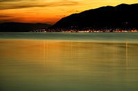 Night beach in Montenegro