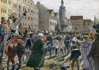 market place Leipzig  Battle of the Nations, German Wars of Liberation