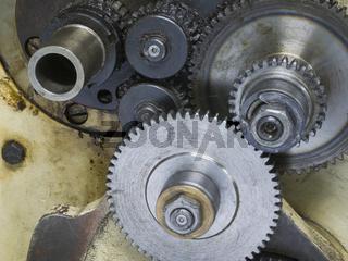 Getriebe einer Drehmaschine