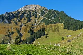 Der Gipfel Niesen, Berner Oberland, Schweiz