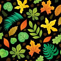 Seamless background with leaves 4 - picture illustration.