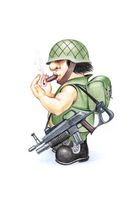 Soldier with cigar