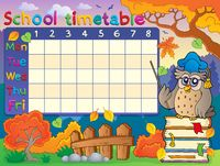 School timetable composition 1 - picture illustration.