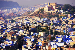 Jodhpur city seen from Mehrangarh Fort, India