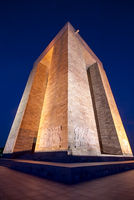 Canakkale Martyrs' Memorial At Night