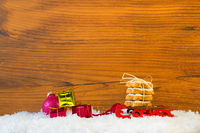 chrismas background with sleigh