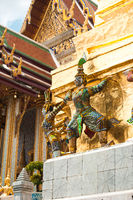Temple of Emerald Buddha. Bangkok, Thailand