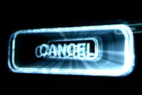 abstract cancel button on black background