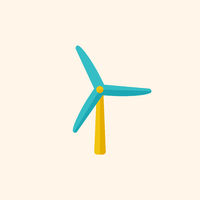 Wind Energy Flat Icon