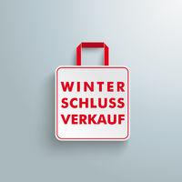 White Paper Shopping Bag Winterschlussverkauf PiAd