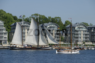 Traditionssegler bei der Rum Regatta in Flensburg