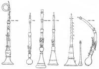 old woodwind instruments, English horn, oboe, Oboe da caccia