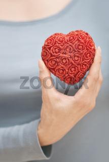 Holding heart