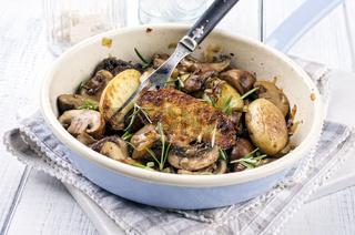 potato with mushrooms roasted