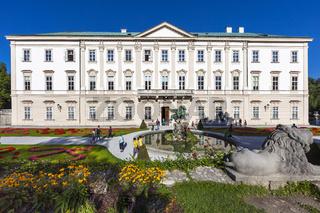 Schloss Mirabell und Mirabellgarten  mit Pegasusbrunnen