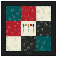 Dart board graphic