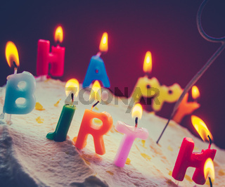 Retro Birthday Cake