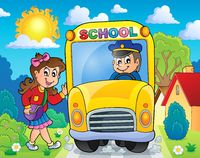Image with school bus theme 8 - picture illustration.