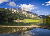 Lake Haldensee water reflection, Austria