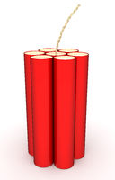 Red Dynamite isolated on a white