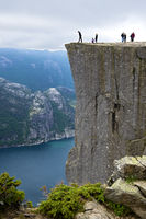 Preikestolen, Pulpit Rock, at Lysefjord,Norway