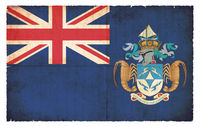 Grunge flag of Tristan da Cunha (Great Britain)