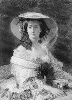Eugénie de Montijo, 1826 - 1920, the last Empress consort of the French