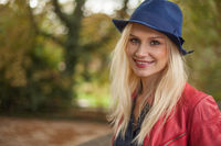 Chic young woman with long blond hair