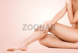 healthy beautiful woman legs
