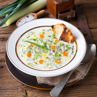 leek cheese soup