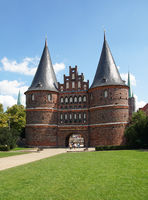 Holsten Gate in Luebeck - Germany