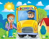 Image with school bus topic 4 - picture illustration.