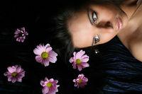 hair pink flowers hair pink flowers