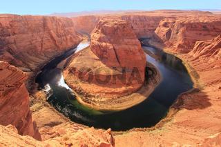 Horseshoe bend seen from overlook, Arizona, USA