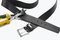 Belt with hole punch