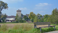 Village of Zons at Rhine River,Germany