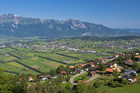 Rhine valley withthe Alpstein mountain range