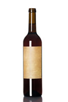 red wine in a bottle
