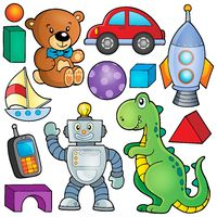 Collection with toys theme 2 - picture illustration.